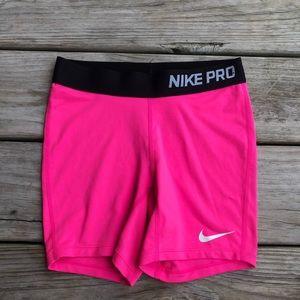 Nike Pro Hot Pink Spandex Shorts